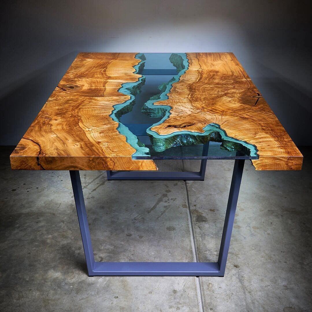 رزین اپوکسی فوق شفاف چوب